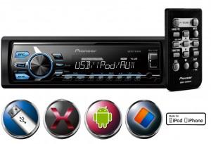 Pioneer MVH-X178UI - Rádio Am/Fm com entrada USB e AUX